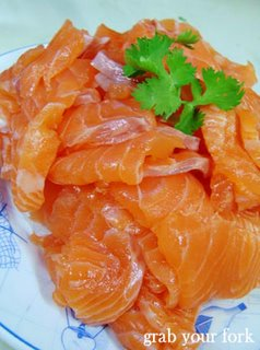 Salmon sashimi