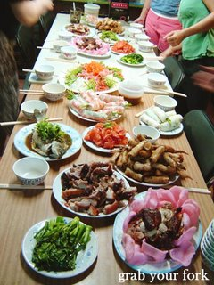 Chinese New Year Eve feast