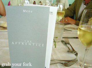 The Apprentice menu