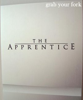 The Apprentice sign