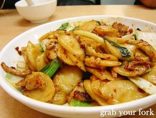 Stir fried Chinese New Year cake