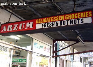 Arzum market sign