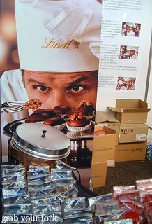 Lindt chocolate stand