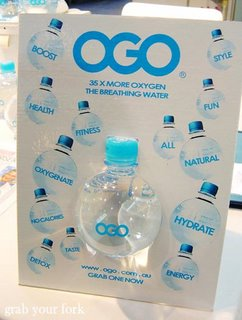 oxygenated water