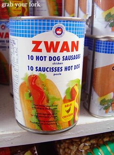 tinned hot dogs