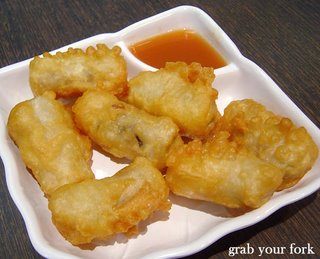 crab meat spring rolls