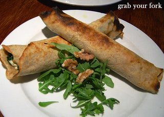 spelt crepes with spinach