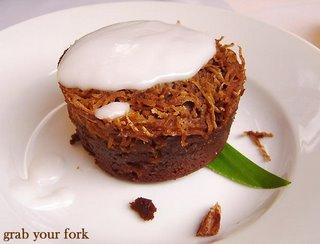 pretty chocolate coconut pudding