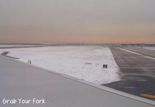JFK tarmac with snow