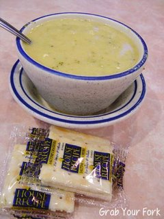 Tom's Restaurant broccoli soup
