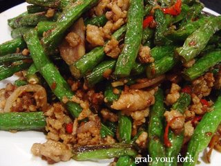 Beans with pork mince