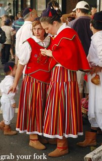 Portuguese dancers in traditional dress