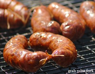 chorizo on the barbecue