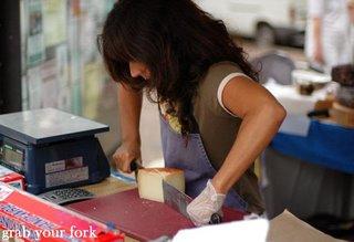 cutting cheese