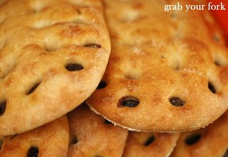 flat olive bread from Consumate