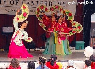 Korean fan dancing