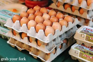 Organic free-range eggs