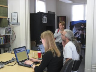 Internet Archive staff at work