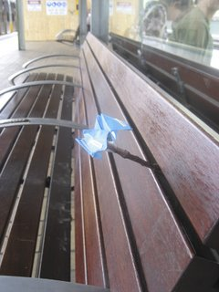 paper flower, station seat