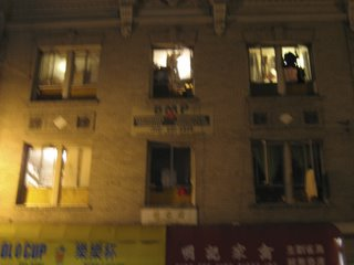 nighttime windows in chinatown