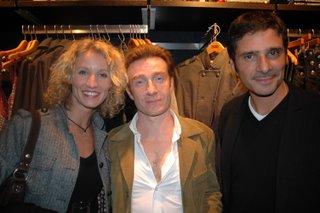 Alexandra Lamy, Thierry Frémont à l'ouverture de la boutique Tommy Hilfiger Paris