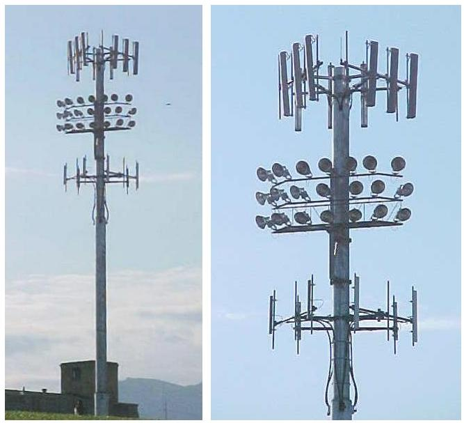 COMMUNICATIONS ANTENNA SUPPORTING STRUCTURES