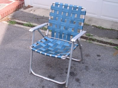 I Still Like The Old Style Aluminum Folding Lawn Chairs To Me, As A Bigger  Guy, They Are Much More Comfortable Than The New Collapsible Camp Style  Chairs ...