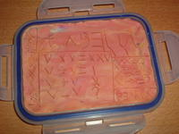 wax tablet with Roman writing and numerals by Pearl