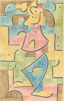 Goofy, Paul Klee style, by John Sparey