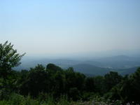 The Blue Ridge Mountains from I-64
