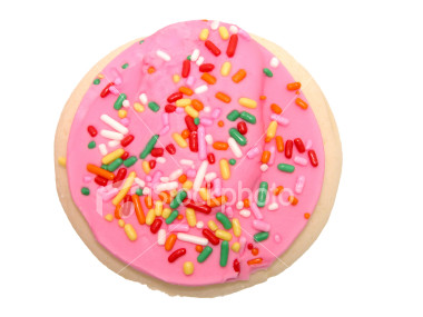 ... here, approached her and gave her a cookie with pink frosting on it