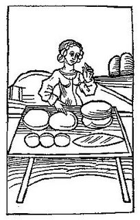 Baking Bread Coloring Page