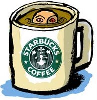 Drowning in free coffee.