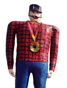 Apparently Paul Bunyan was a curler.  I wonder if he swept.