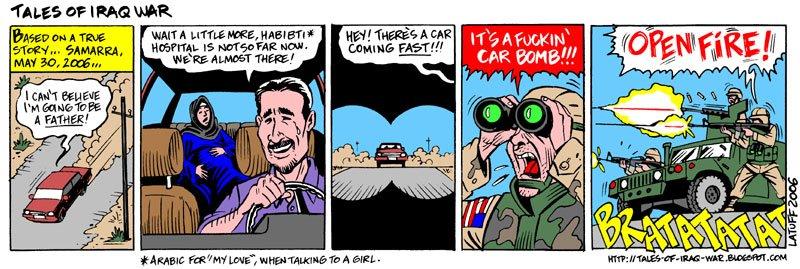 Tales of Iraq War comic strip