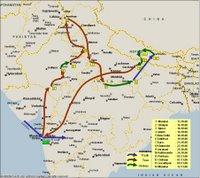 Hindistan-Nepal rota