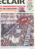 la Une du 05 avril 2006