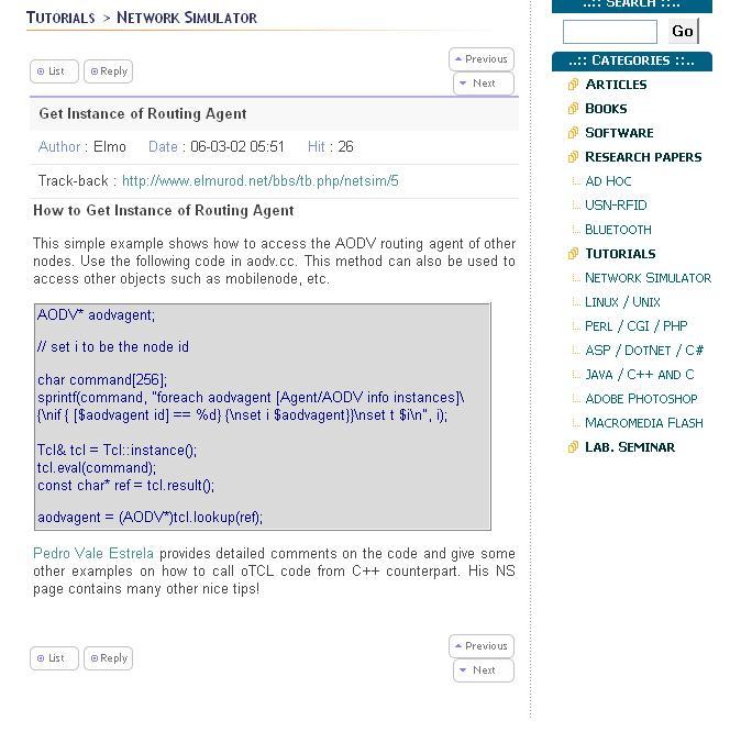 Network Simulator, Ns-2 Blog