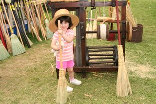 Dinker wearing the broom maker's hat at the 2006 Kutztown Festival
