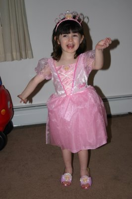 The Dinks in her Barbie Princess costume