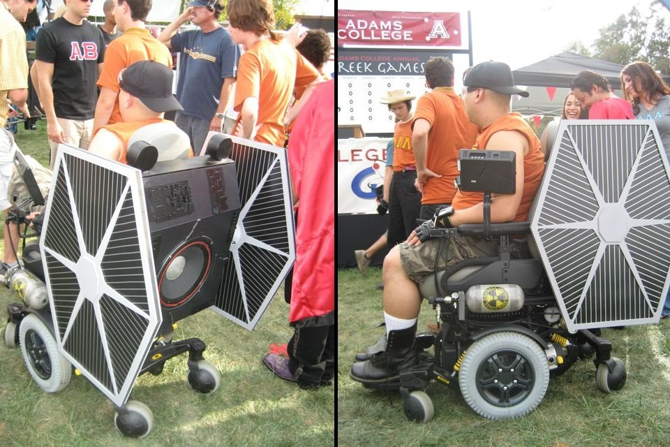 Tie Fighter Wheelchair Costume Tie Fighter Wheelchair