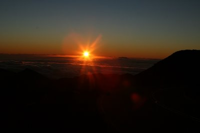 the sunrise at haleakala