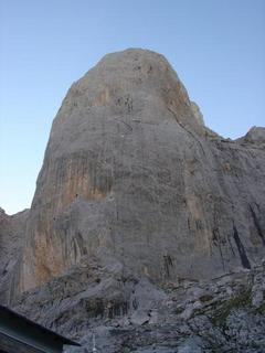 The east face as seen from the refuge