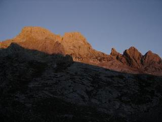 Sunrise on the climbing day