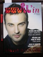 Tarkan on the front cover of Sevil's monthly magazine