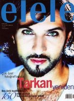 Elele nagazine cover with Tarkan