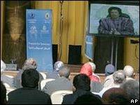 Col Gaddafi said the US political system was a 'failure'