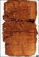 The papyrus document containing the Gospel of Judas