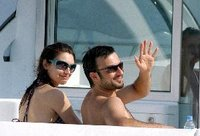 Tarkan and Bilge on Kemer sea cruise