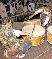 Ramadan drummers beat out a variety of rhythms, and in between rounds, they may also sing.
